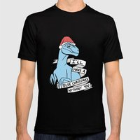 Blue Christmas Mens Fitted Tee Black SMALL