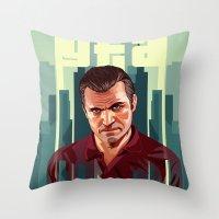 The Godfather, GTA 5 Mic… Throw Pillow