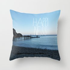 HAPPI-NESS Throw Pillow