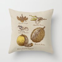Steampunk Fruit  Throw Pillow