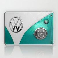 VW Split Screen in Teal Laptop & iPad Skin