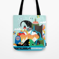 Please Stay Awhile Tote Bag
