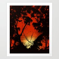 Before Sunset Art Print