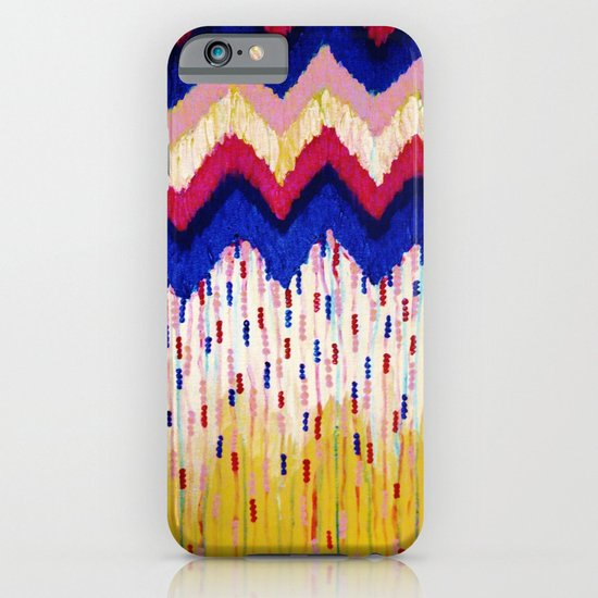 SHINE ON, Revisited - Americana Red White Blue USA Abstract Acrylic Painting Home Decor Xmas Gift iPhone & iPod Case