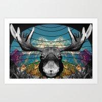 Alces Alces Art Print