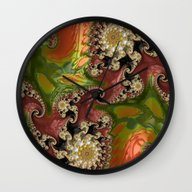 Wall Clock featuring Psychedelic, Abstract, M… by ACKelly