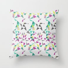 watercolor geometry  Throw Pillow