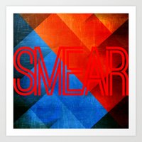 smear 1 Art Print