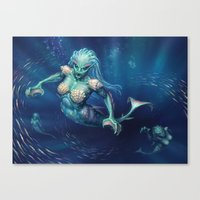 Rampant Oceanids Canvas Print