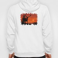 Deer on a hill Hoody