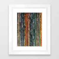 Trunks of Trees Framed Art Print