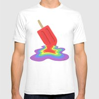 Popsicle Mens Fitted Tee White SMALL