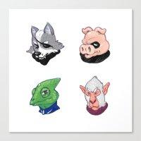 Star Wolf Team Canvas Print