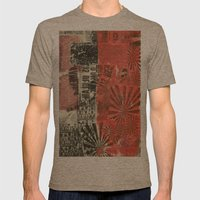 COLLAGE 7 Mens Fitted Tee Tri-Coffee SMALL