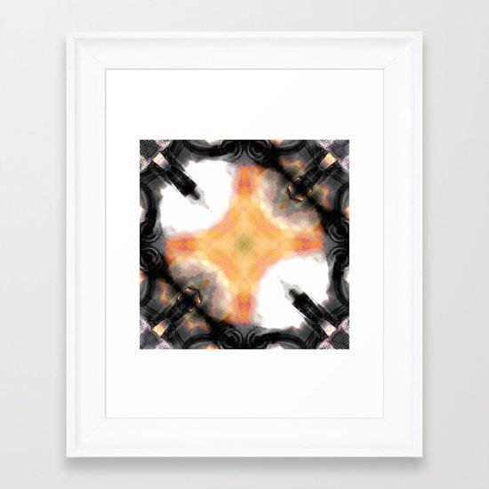 Water Rust Pattern 003 Framed Art Print