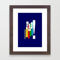 Thunderbirds Are Go Framed Art Print