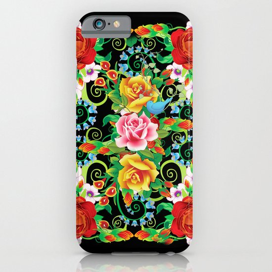 Folkloristic Flowers iPhone & iPod Case