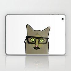 Professor Mustache Cat Laptop & iPad Skin