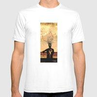MIND On FIRE Mens Fitted Tee White SMALL