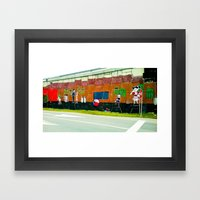 Graffiti under the bridge (El Chavo Del 8). Framed Art Print