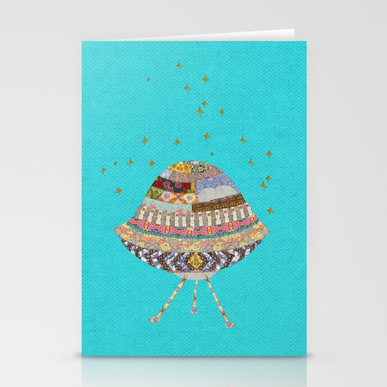 My Spaceship Will Come Stationery Card
