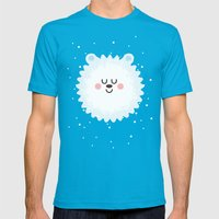 Sleeping Polar Bear Mens Fitted Tee Teal SMALL