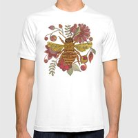 Bee awesome Mens Fitted Tee White SMALL