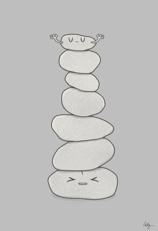 Zen for Some Art Print