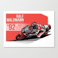 Ralf Waldmann - 1992 Suz… Canvas Print