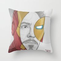circlefaces Throw Pillow