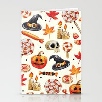 halloween Stationery Cards featuring halloween by Ceren Aksu Dikenci