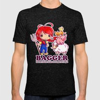 BAGGER Lotje and the farm animals Mens Fitted Tee Tri-Black SMALL
