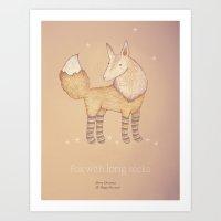 Christmas Creatures- Fox… Art Print