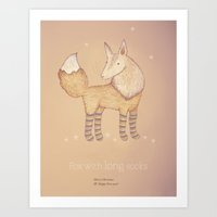 Christmas Creatures- Fox… Art Print
