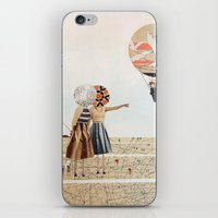 trip to the moon, collage iPhone & iPod Skin