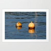 Mooring buoys 016 Art Print