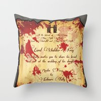 Red Wedding Throw Pillow