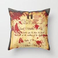 Red Wedding Throw Pillow