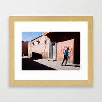 Marrakech Medina Framed Art Print