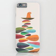 Bird nesting on top of pebbles hill Slim Case iPhone 6s
