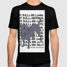 Pit Bulls Are.. Mens Fitted Tee SMALL Black