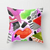 Vibrance Watercolour  Throw Pillow