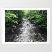 River Runs Art Print