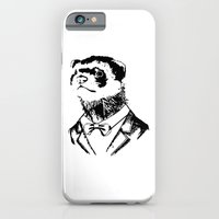 iPhone Cases featuring Fancy Ferret by JK Designs