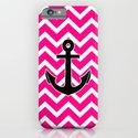 Magenta Zigzag Pattern Chevron Anchor iPhone & iPod Case