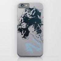 Snow Leopard (Blue) iPhone 6 Slim Case