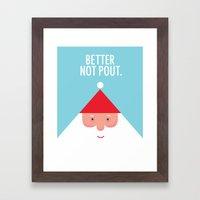 Christmas Better Not Pout Framed Art Print