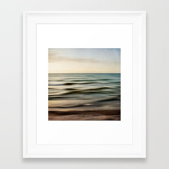 sea square I Framed Art Print