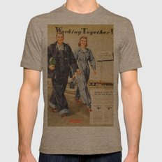 1942 Working Together Cover Mens Fitted Tee Tri-Coffee SMALL