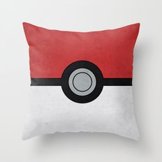 Minimal Pokéball Poster… Throw Pillow